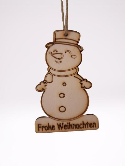 Geschenksanhänge Schneemann